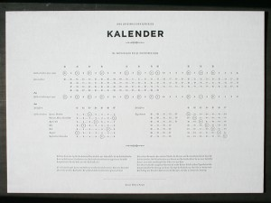 Full view of the Kalendar
