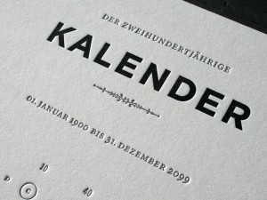 Closeup of the Kalendar