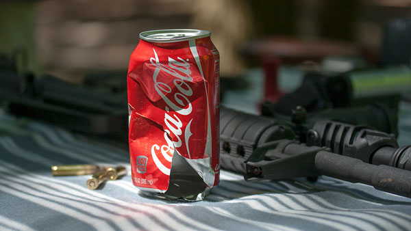 Coke can after bullets